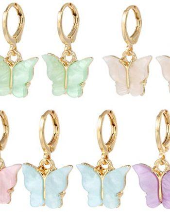 Butterfly Tiny Hoop Earrings