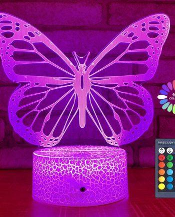 3D Illusion Butterfly Night Light