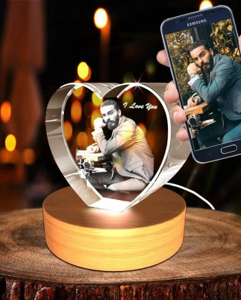 A&B Personalized Custom 3D Photo engraved Crystal