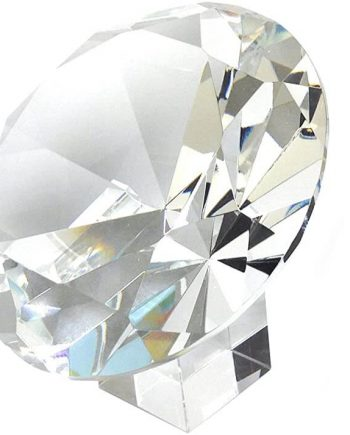 Amlong Crystal Diamond Jewel Paperweight with Gift Box