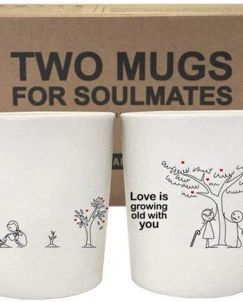 BOLDLOFT Grow Old with You Couples Coffee Mugs