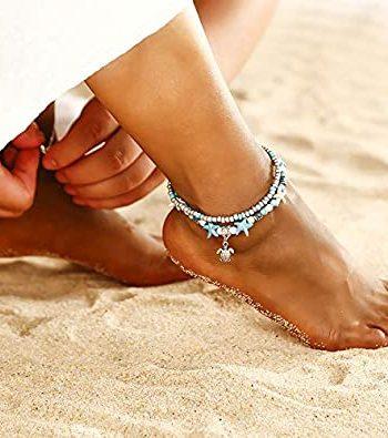 Blue Starfish Turtle Anklet