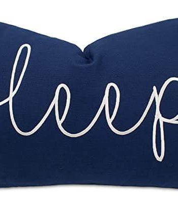 EURASIA DECOR Sleep Embroidered Throw Pillow