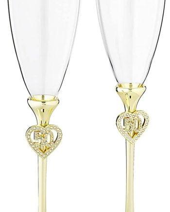 Hortense B Hewitt Wedding Champagne Anniversary Toasting Flutes