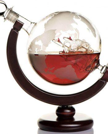 Kemstood Whiskey Globe Decanter