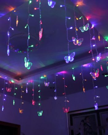 Butterfly LED String Curtain Fairy Lights